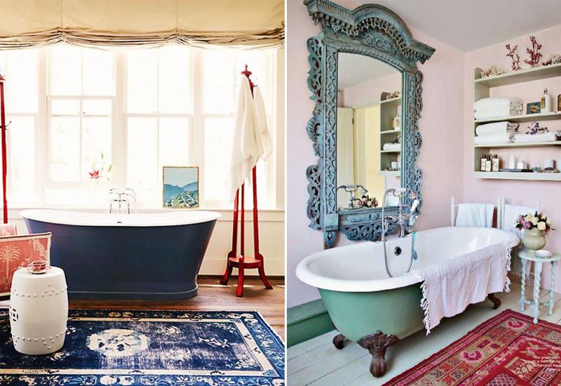 Decoração com Tapete Persa Ideias e Referências -> Decoracao Tapete Banheiro